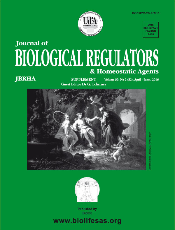 Journal Of Biological Regulators & Homeostatic Agents