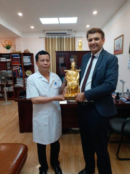 Prof. Michael Tirant with Professor Thuong