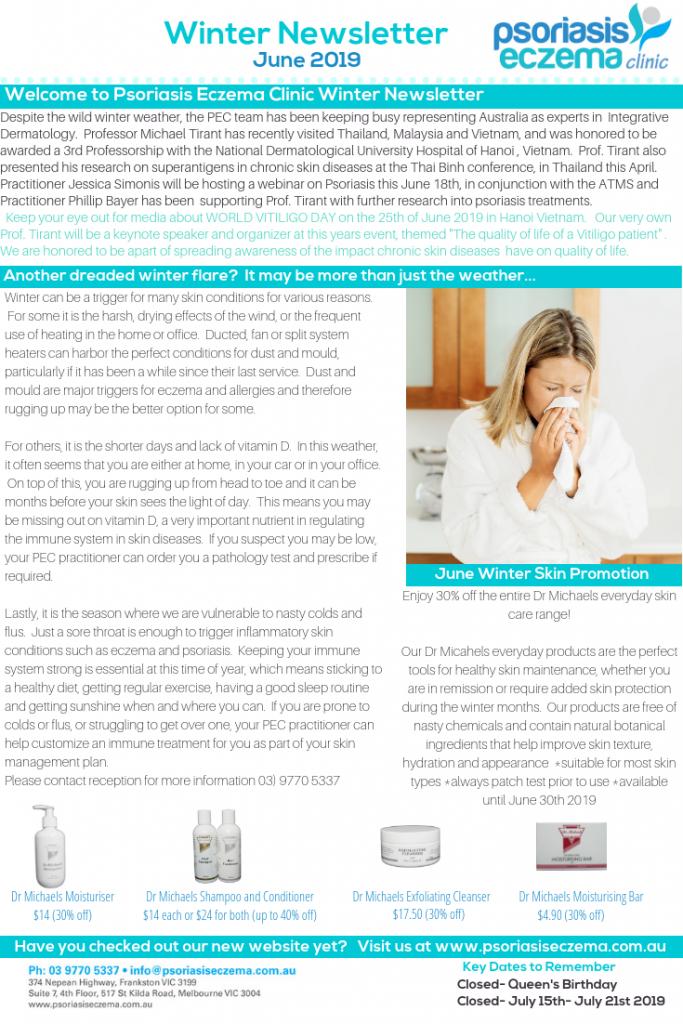 Psoriasis Eczema Clinic Winter Newsletter June 2019